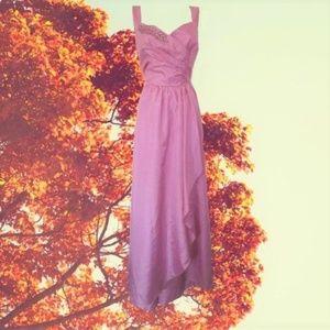 1980s vintage formal dress rockabilly prom large